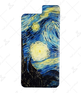 استیکر ژله ای برجسته موبایل لیت آرت طرح شب پر ستاره