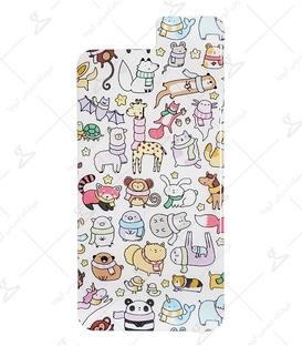 استیکر ژله ای برجسته موبایل Lit Art لیت آرت طرح حیوانات سفید