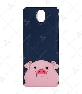 استیکر ژله ای برجسته موبایل لیت آرت طرح خوک تپل