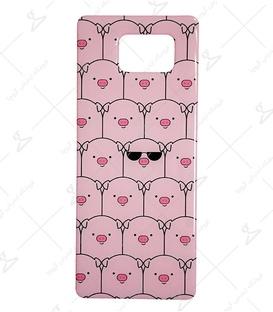 استیکر ژله ای برجسته موبایل Lit Art لیت آرت طرح خوک معروف صورتی
