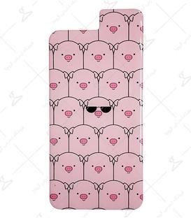 استیکر ژله ای برجسته موبایل لیت آرت طرح خوک معروف صورتی