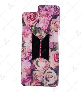 استیکر ژله ای برجسته موبایل لیت آرت طرح BTS Flower