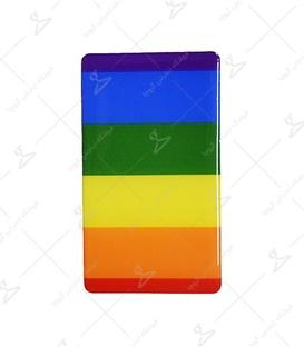 استیکر ژله ای برجسته موبایل لیت آرت طرح رنگین کمان