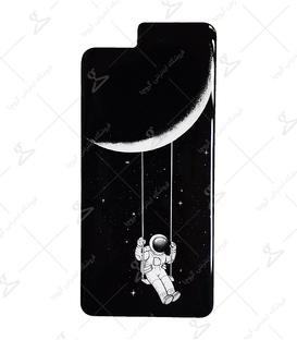 استیکر ژله ای برجسته موبایل Lit Art لیت آرت طرح فضانورد غمگین مشکی