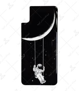 استیکر ژله ای برجسته موبایل لیت آرت طرح فضانورد غمگین مشکی