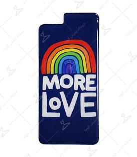 استیکر ژله ای برجسته موبایل لیت آرت طرح More Love