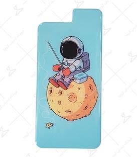 استیکر ژله ای برجسته موبایل لیت آرت طرح فضانورد ماهیگیر