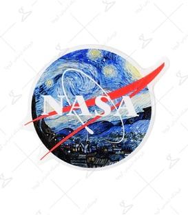استیکر ژله ای برجسته Lit Art لیت آرت طرح Nasa در شب پر ستاره