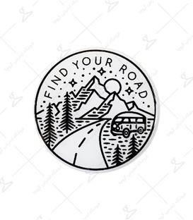 استیکر ژله ای برجسته Lit Art لیت آرت طرح Find Your Road