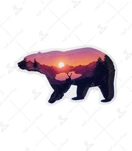 استیکر ژله ای برجسته لیت آرت طرح خرس جنگلی