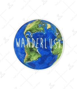 استیکر ژله ای برجسته Lit Art لیت آرت طرح Wanderlust