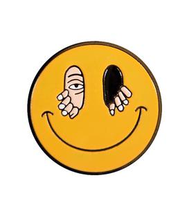 پین فلزی Hiuman هیومن طرح لبخند