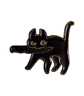 پین فلزی Hiuman هیومن طرح گربه با چاقو
