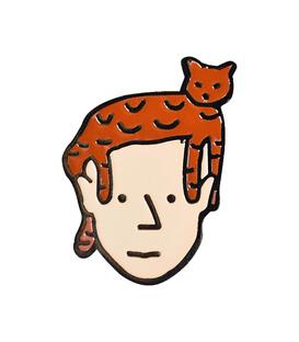 پین فلزی Hiuman هیومن طرح گربه روی سر