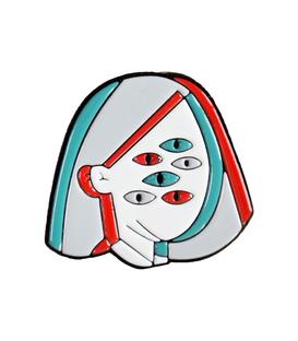 پین فلزی Hiuman هیومن طرح شش چشم
