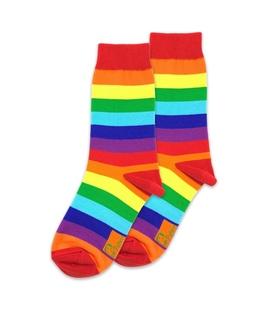 جوراب ساق دار راه راه نانو پاتریس طرح رنگارنگ
