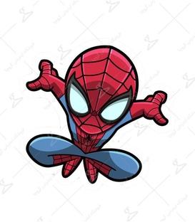 استیکر LooLoo طرح Spider Man