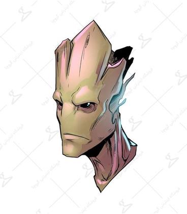 استیکر LooLoo طرح Groot