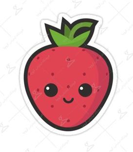 استیکر LooLoo طرح توت فرنگی قرمز