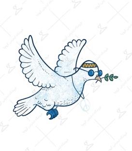 استیکر LooLoo طرح کبوتر صلح