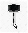 استیکر LooLoo طرح Thor Hammer