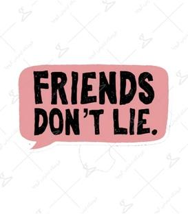 استیکر LooLoo طرح Friends Don't Lie