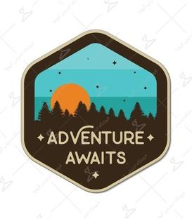 استیکر LooLoo طرح Adventure Awaits