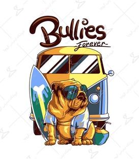 استیکر LooLoo طرح Bullies For Ever