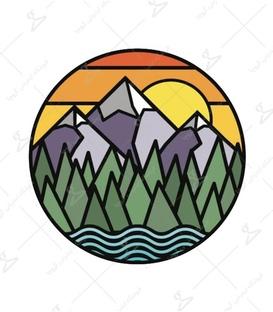 استیکر LooLoo طرح کوهستان زیبا