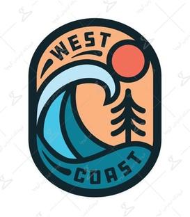 استیکر LooLoo طرح West Coast
