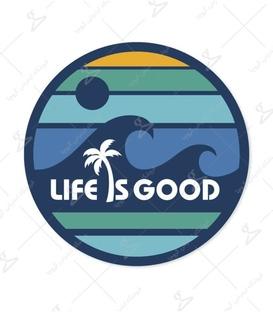 استیکر LooLoo طرح Life Is Good