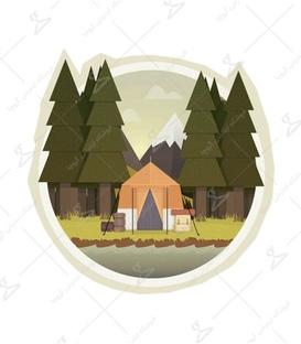 استیکر LooLoo طرح چادر جنگلی