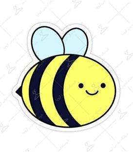استیکر LooLoo طرح زنبور عسل زرد