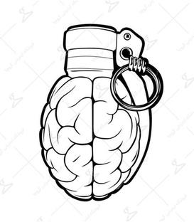 استیکر LooLoo طرح نارنجک مغز