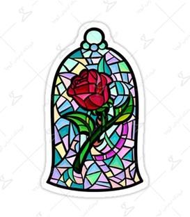 استیکر LooLoo طرح گل رز