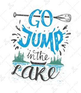 استیکر LooLoo طرح Go Jump In The Lake