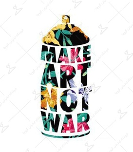 استیکر LooLoo طرح Make Art Not War