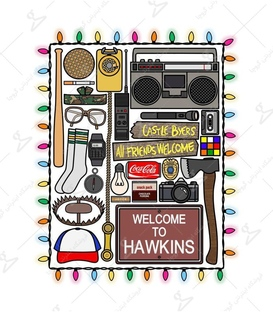 استیکر LooLoo طرح Welcome To Hawkins
