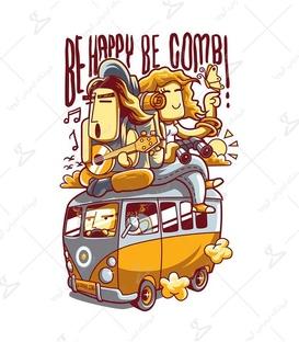 استیکر LooLoo طرح Be Happy BE Combi