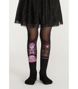 جوراب شلواری بچگانه Penti پنتی طرح Girl Power مشکی ضخامت 30