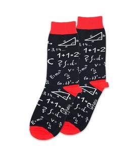 جوراب ساق دار نانو پاتریس طرح ریاضی مشکی
