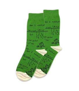 جوراب ساق دار نانو پاتریس طرح تخته سبز
