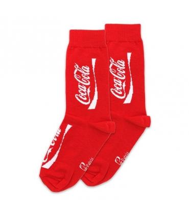 جوراب ساق دار نانو پاتریس طرح کوکاکولا قرمز