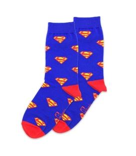جوراب ساق دار نانو پاتریس طرح سوپرمن آبی