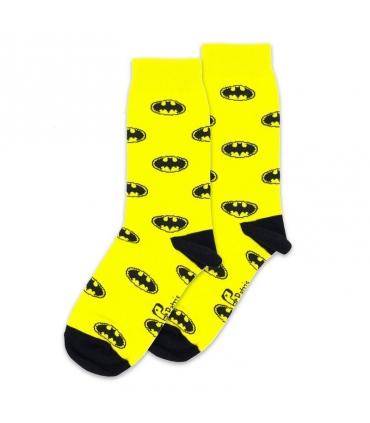 جوراب ساق دار نانو پاتریس طرح بتمن زرد