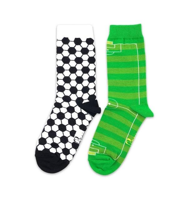 جوراب ساق دار لنگه به لنگه نانو پاتریس طرح فوتبال