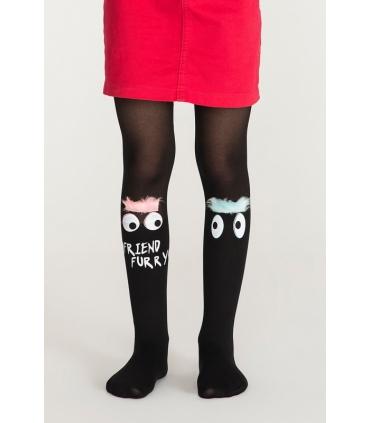 جوراب شلواری بچگانه Penti پنتی طرح Furry مشکی ضخامت 30