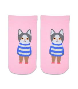 جوراب مچی طرح گربه دانش آموز آدامسی