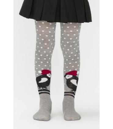 جوراب شلواری بچگانه Penti پنتی طرح پنگوئن خاکستری