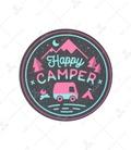 استیکر Lit Art لیت آرت طرح Happy Camper